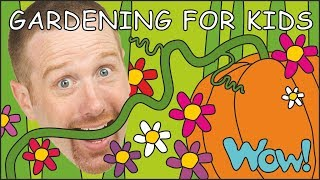 Gardening for Kids and the Pumpkin NEW | Stories for Children from Steve and Maggie | Wow English TV