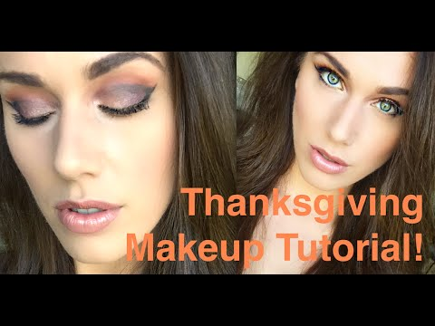 My Cut-Crease Thanksgiving Makeup Tutorial! | Cassandra Bankson