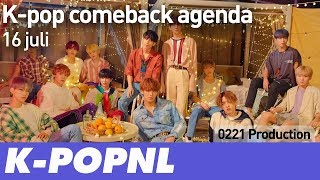 [COMING UP] K-pop Comeback Agenda: 16 July 2018 — K-POPNL