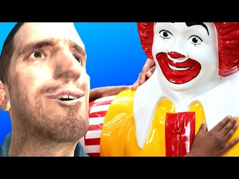 FAST FOOD HIDE AND SEEK!! - Gmod McDonald's Restaurant Roleplay Map (Garry's Mod)
