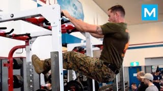 More Pull Ups with Super U.S. MARINE | Muscle Madness