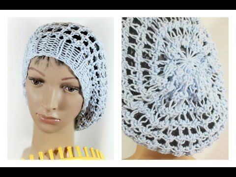 Knitting Extra Stitches : Loom Knitting.. Creating Extra Stitches For A Slouchy Tam Hat How To Make &...