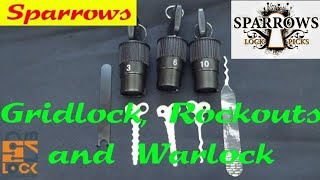 (973) Review: Sparrows GRIDLOCK, ROCKOUT, & WARLOCK Lock Picks