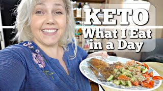 Keto Foods What I Ate Today - 170 Pound Weight Loss - Full Day of Eating