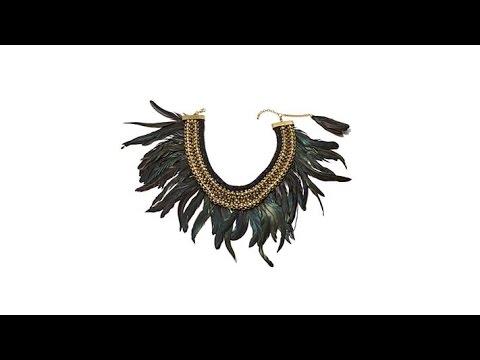Rara Avis by Iris Apfel Black Feather Necklace