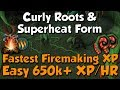 650k+ Firemaking XP/HR - Curly Roots! [Runescape 3] Superheat Form Prayer!