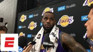 LeBron James on Lonzo Ball and Rajon Rondo: 'They were just born to be point guards' | NBA Interview