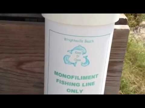 Wrightsville Beach North Carolina PVC Tubes For Fishing Line