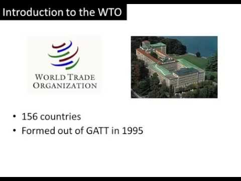 WTO World Trade Organization: Introduction and Functions