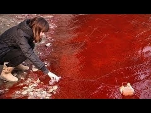CHINA Largest River YANGTZE - BLOOD RED - Apocalyptic MYSTERY 9.8.12 ftr Massive QUAKE 430,000 Bldgs