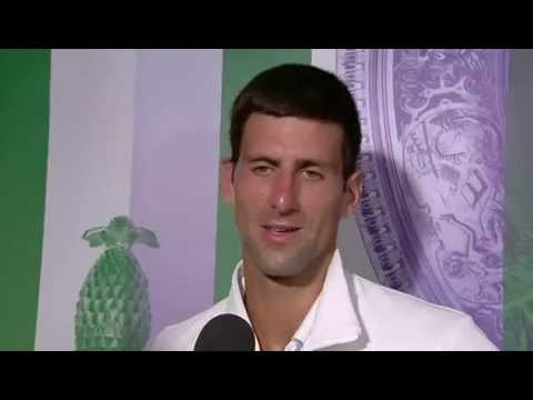 Novak Djokovic: 'that was a tough match' - Wimbledon 2014
