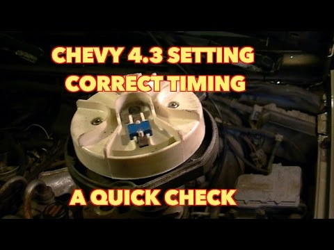 Chevy 4.3 V6... How to Set Distributor timing.