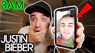 (Insane) CALLING The Real Justin Bieber on FACETIME at 3AM! (He Got Mad!)