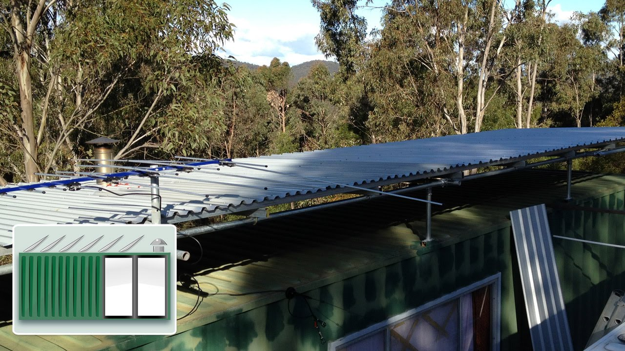 Shipping Container House Sunroof For Catching Water