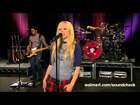 Avril Lavigne - I'm With You @ Live at Walmart Soundcheck 20/04/2007