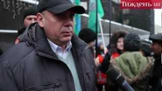 Протест залізничників під Кабміном