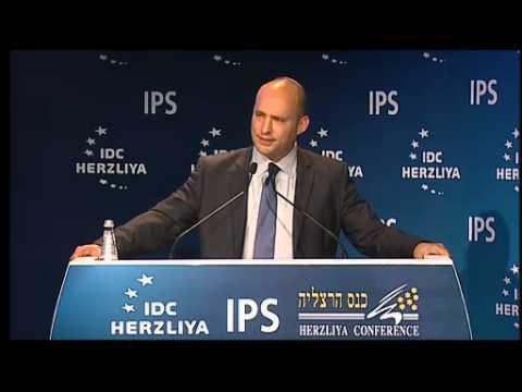 MK Naftali Bennett, Minister of Education, speaking at the 15th Annual Herzliya Conference