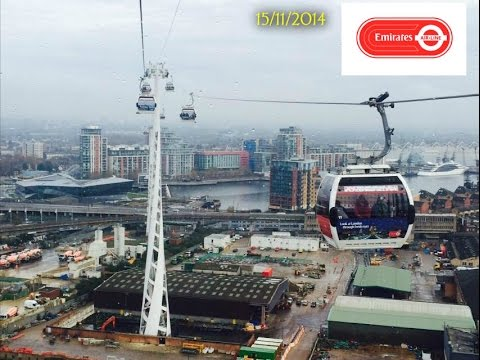 AIR EMIRATES CABLE CAR OVER LONDON, SAT 15/11/2014