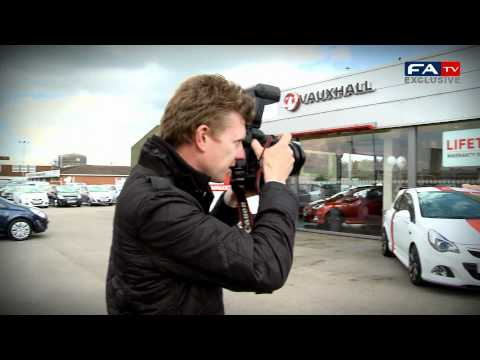 Stuart Pearce delivers England's Euro 2012 training kit to Vauxhall | FATV