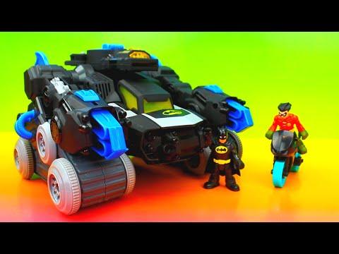 Imaginext Joker sets up Robin and Batman's Bat Bot saves the day