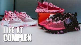 2019 Nike Element React 87 SneakerRoom Breast Cancer Awareness Collab | #LIFEATCOMPLEX