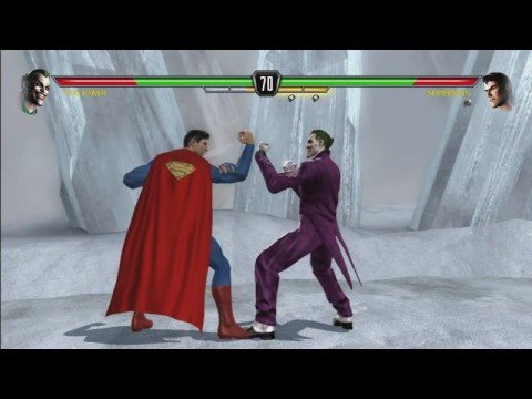 Mortal Kombat v DC Universe HD video game trailer Batman, Superman fighting it out