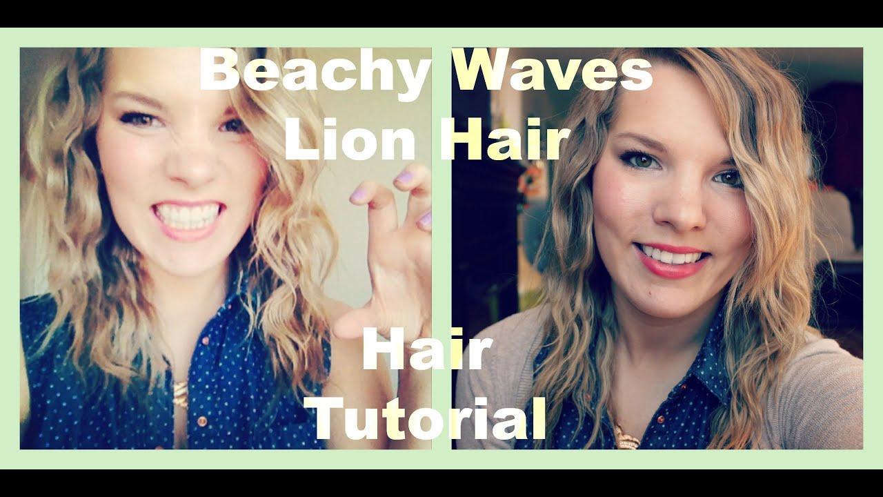 Lion Hair Tutorial Beachy Waves/lion Hair Hair