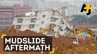 China landslide swallows 33 buildings, 91 missing