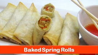 Baked spring rolls recipeEasy healthy vegetable ro