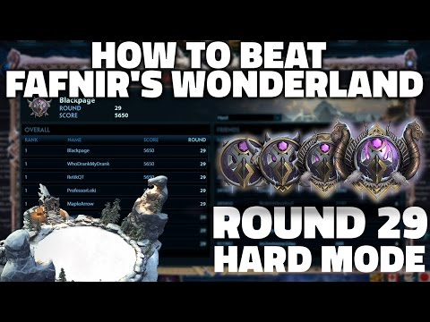 SMITE: ROUND 29 HARD MODE! | How to Beat Fafnir's Wonderland - Guide