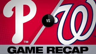 Scherzer, Nats blanks Phillies in 2-0 win | Phillies-Nationals Game Highlights 6/19/19
