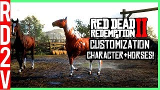 Red Dead Redemption 2 Gameplay Part 2 - Horse & Character Customization?! (RDR2)