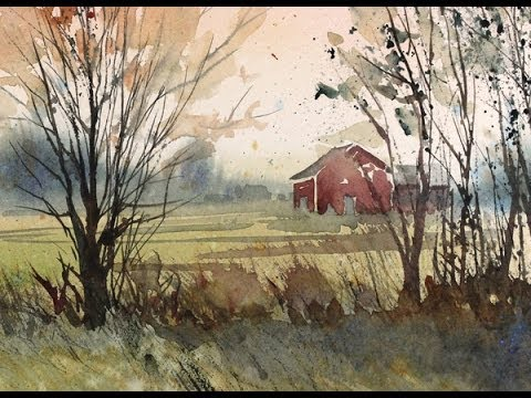 painting a fall landscape in watercolor with susan avis