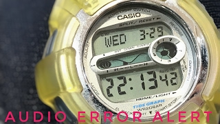 Vintage & yellowed Extreme G-Lide DWX-110-7T G-Shock watch review & complications overview