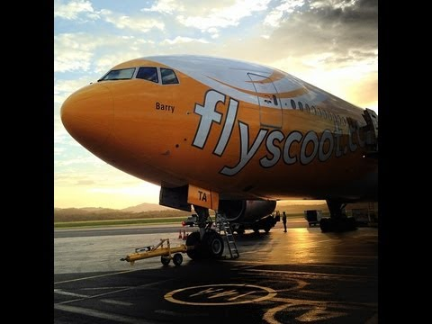 Fly Scoot Airlines. Boeing 777-200. Gold Coast to Singapore