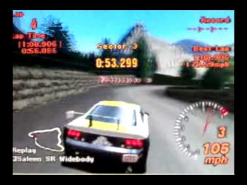Gran turismo 2 driving compilation - 4 cars, 4 tracks