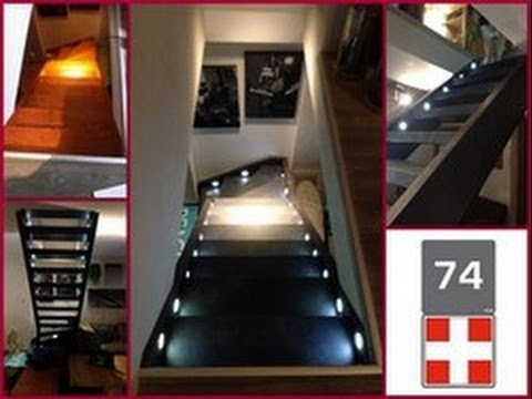 habillage escalier ouvert d cor ardoise 74160 youtube. Black Bedroom Furniture Sets. Home Design Ideas