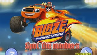 Blaze and the Monster Machines Spot the Number Game Full Episode