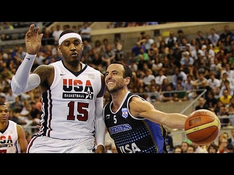 USA vs Argentina 2012 Olympics Men's Basketball Exhibition F
