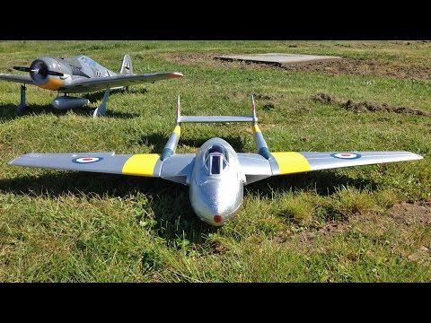 RC Plane Crash Video - HobbyKing Durafly Vampire - D.H.100 Vampire Mk6 EDF Jet