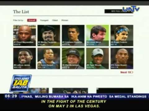 Mayweather, Pacquiao, nanguna sa Forbes' List ng world's 100 highest paid athletes