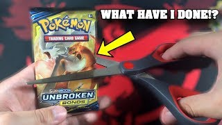 UH OH! Did I just rip THE RAREST Pokemon Card from UNBROKEN BONDS in this SAVE IT OR RIP IT?!