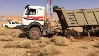 نيسان تسحب تريلا | nissan take out truck in Saudi Arabia