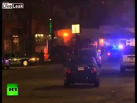 Amateur video shows Watertown police shootout with Suspects Dzhokhar Tsarnaev and Tamerlan Tsarnaev