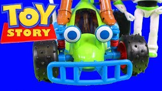 Disney Pixar Toy Story Collection RC Buggy & Woody + Buzz Lightyear Rex Barbie Kids Toy Review