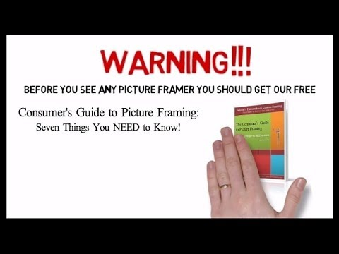 http://www.JacksonsGallery.com Before you see ANY Picture framer you need to download this free 'field guide' to the custom picture framing industry. Written...