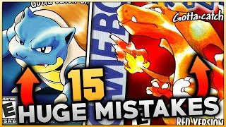 15 HUGE Mistakes & Glitches In Pokemon Red And Blue (Generation 1)