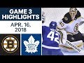 NHL Highlights | Bruins vs. Maple Leafs, Game 3 - Apr. 16, 2018 MP3