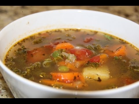 Kale Soup | Vegan | Vegetarian | Organic | Recipe - YouTube
