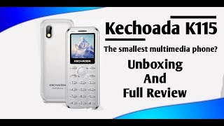 Kechaoda K115 unboxing and review. Cheapest feature/card phone? in hindi